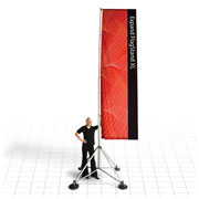 Extra-large flag banner for outdoor use
