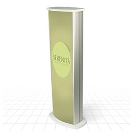 Double sided branded columns