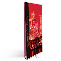Budget double-sided roll up banner stand