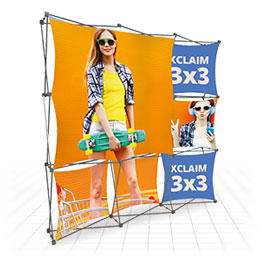 Reconfigurable, funky, cutting-edge - Pop-up printed fabric frames