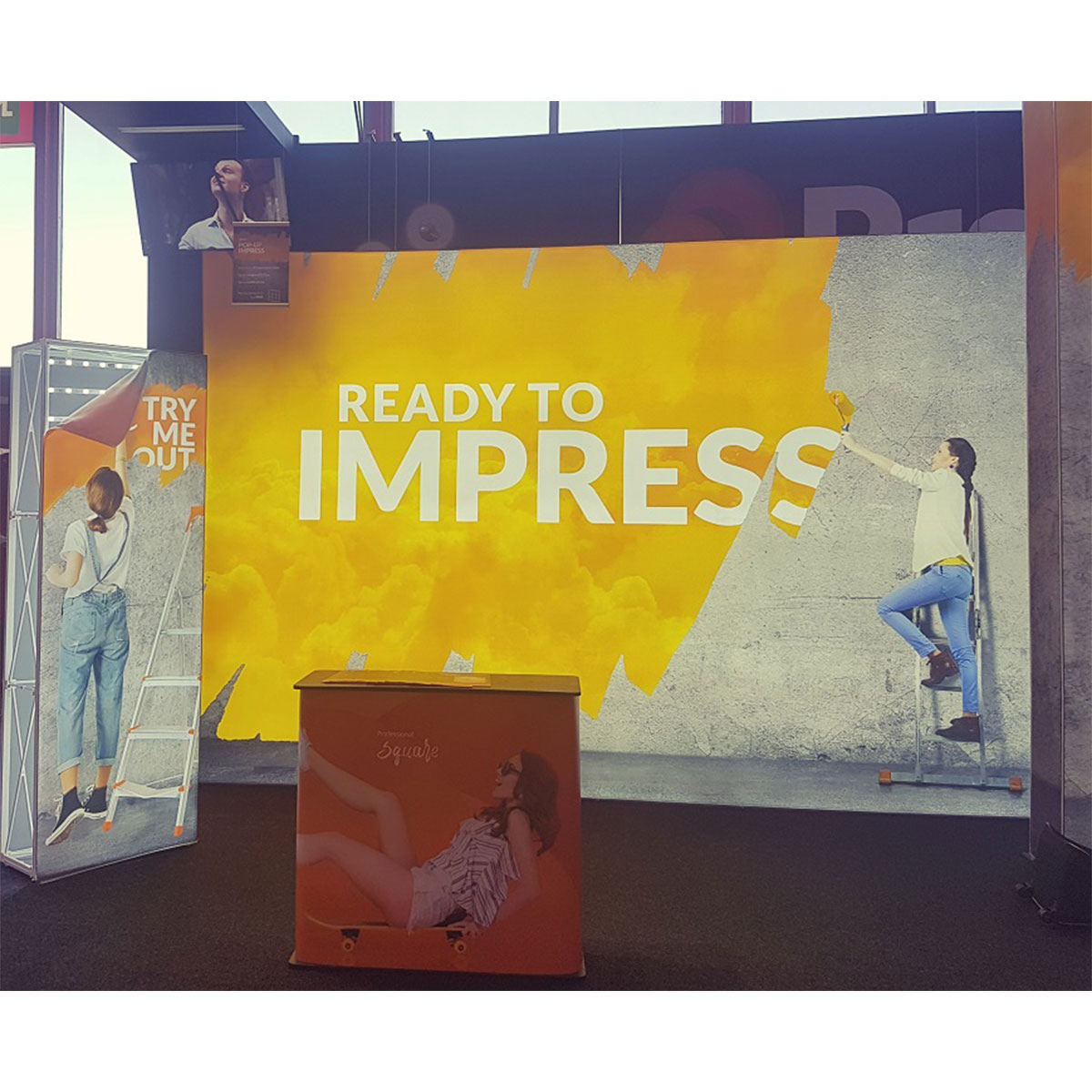 Fabric Exhibition Stand : Impress fabric display stand