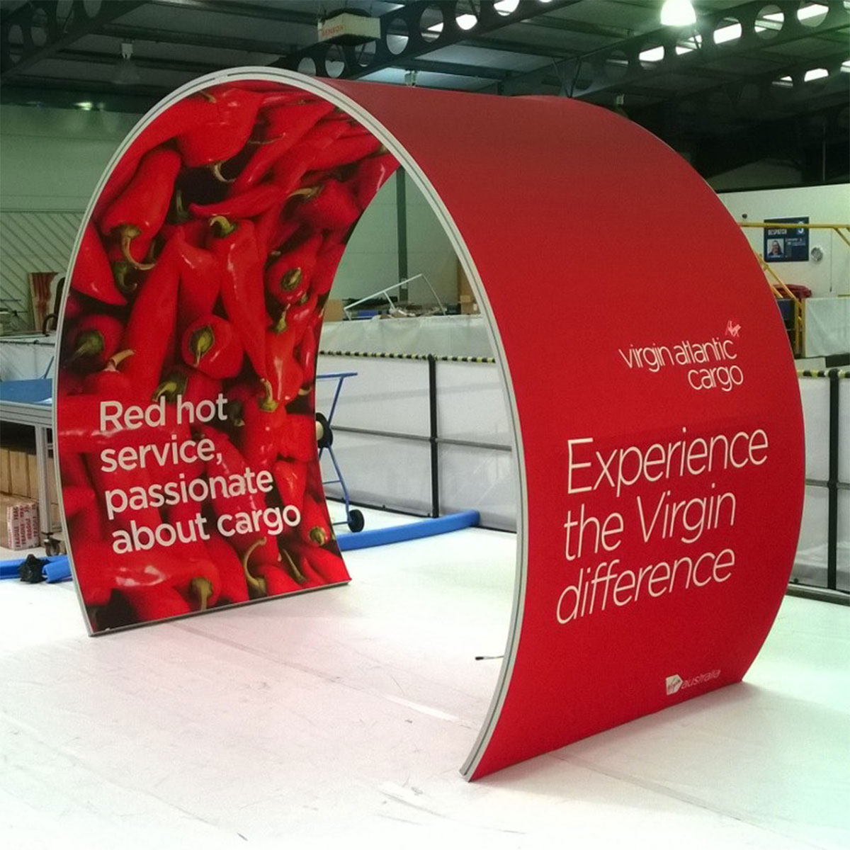 Stretch Fabric Exhibition Stands : Stretch arch fabric display stands