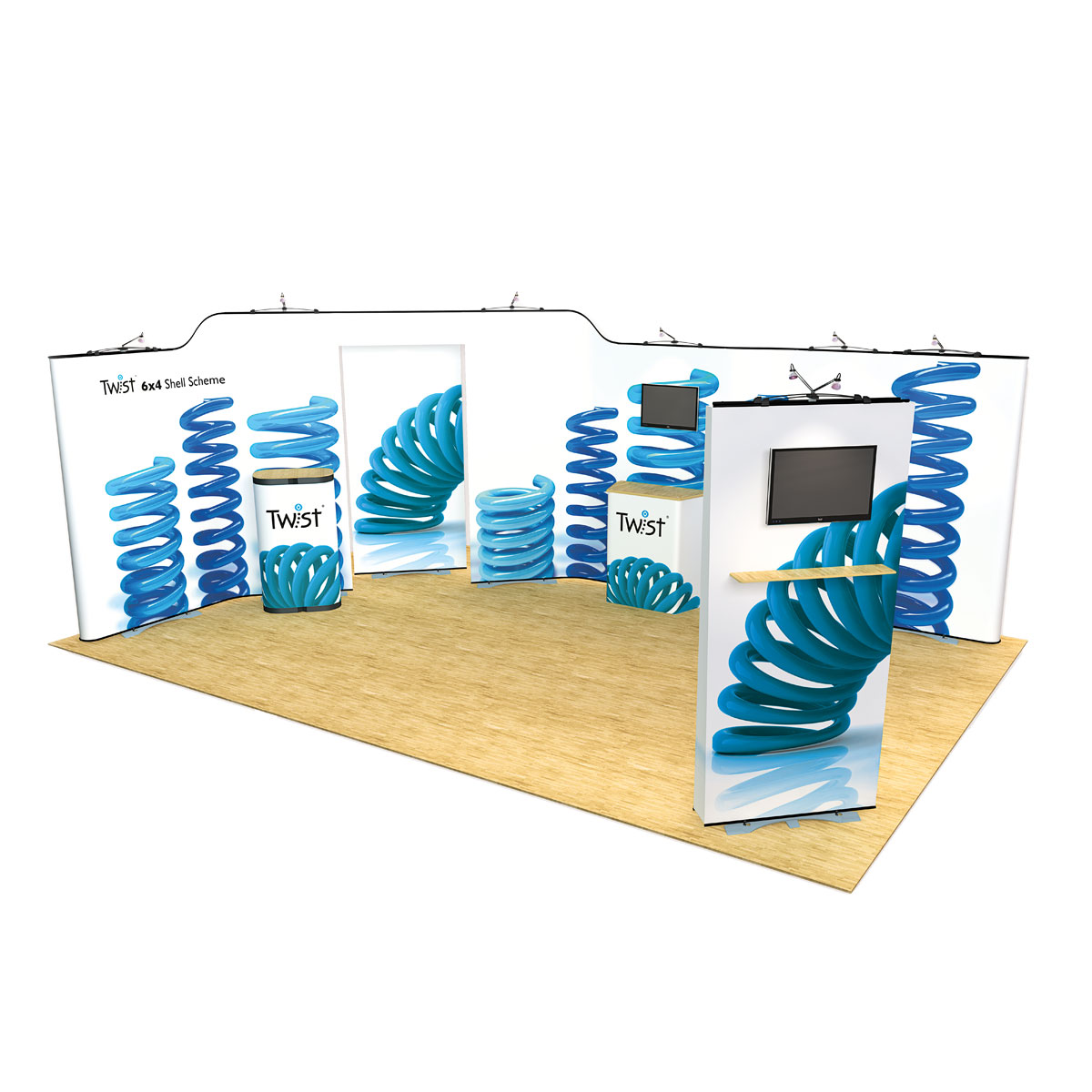 Modular Exhibition Stands Election : Twist modular exhibition stands