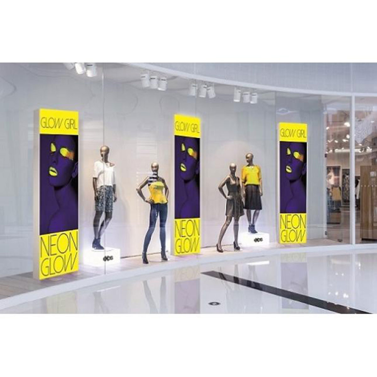 Fabric Exhibition Stand Yet : Vector led backlit fabric display stands