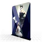 Multiple width fabric banners