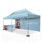 Huge branded shelter for outdoor marketing