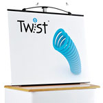 Mini Twist desktop display stand