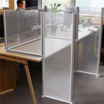 L-shaped Acrylic Partition