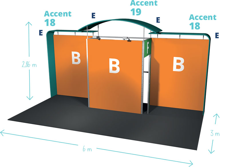 Example 4 Diagram : Stand 18m²