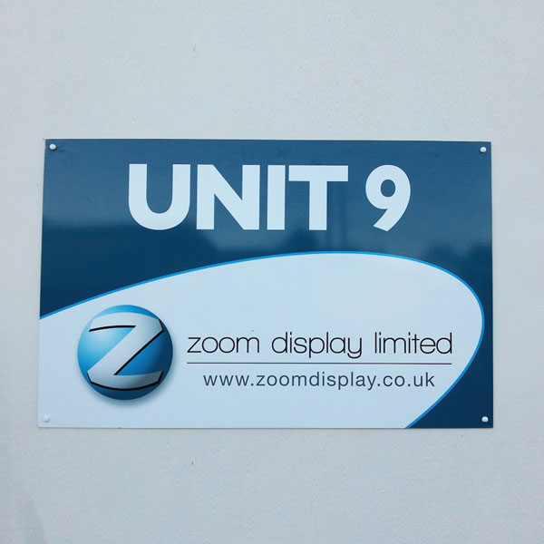 Dibond Signage [Zoom Display]
