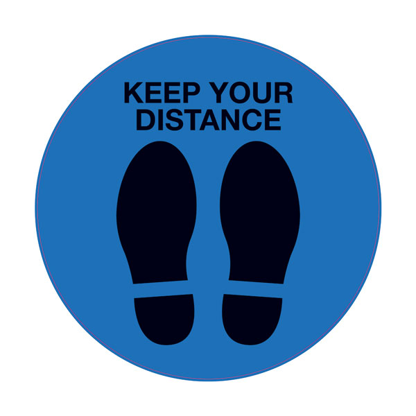 Floor Stickers (Keep Your Distance)