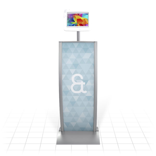 Kiosk Plus Tablet Display Stand (Curved - Front)