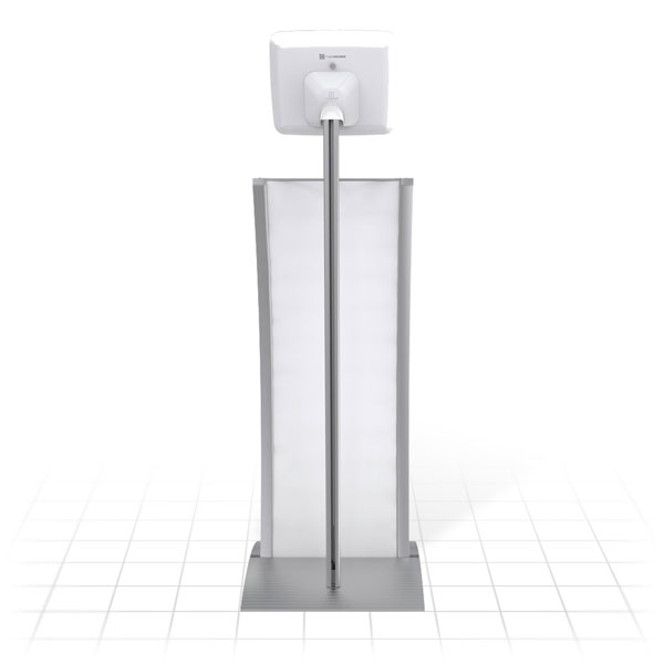 Kiosk Plus Tablet Display Stand (Curved - Rear)