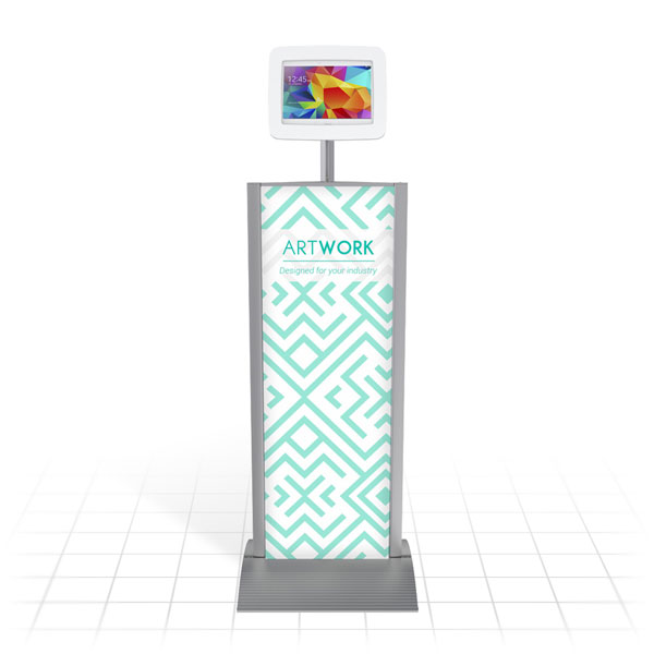 Kiosk Plus Tablet Display Stand (Straight - Front)