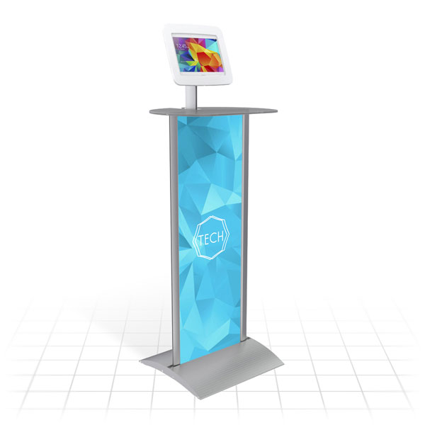 Kiosk Plus Tablet Display Stand (Straight - Shelf)