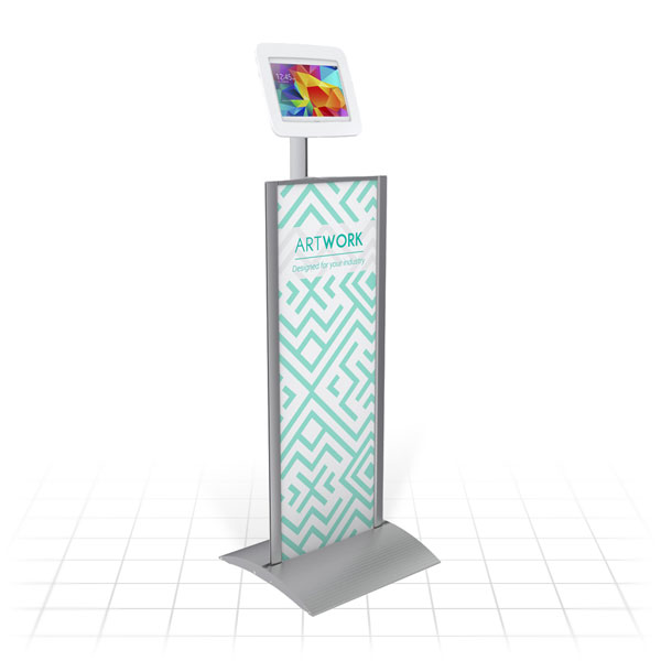 Kiosk Plus Tablet Display Stand (Straight)