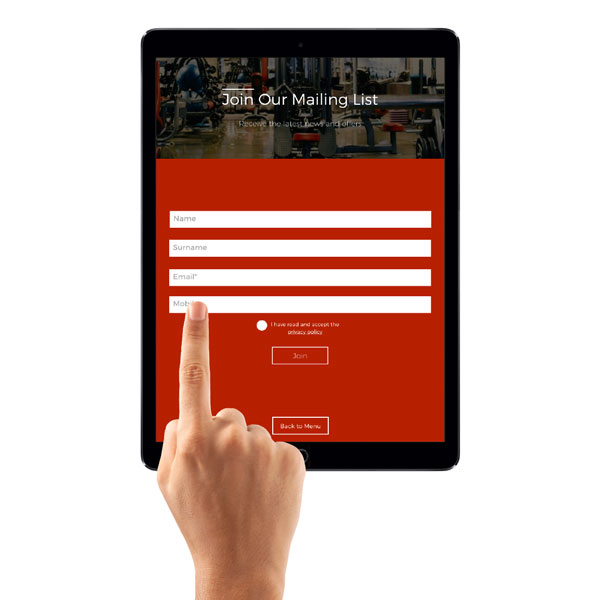 iPad Portal Software (Sign Up)