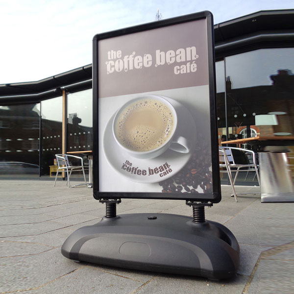 Recoil Pavement Sign [Coffee Bean Cafe]