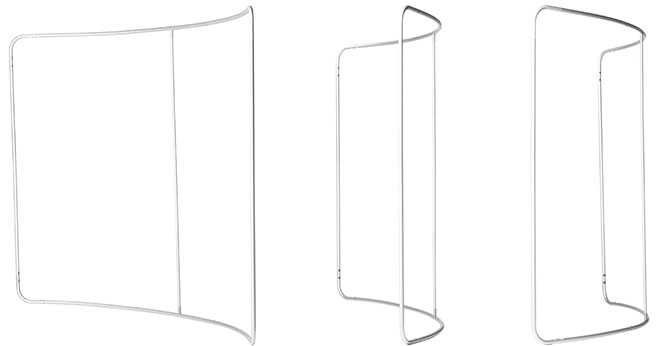 Zipper Walls Curved Frame